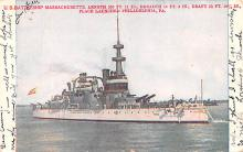 mil051662 - Military Battleship Postcard, Old Vintage Antique Military Ship Post Card