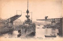 mil051665 - Military Battleship Postcard, Old Vintage Antique Military Ship Post Card
