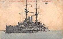 mil051682 - Military Battleship Postcard, Old Vintage Antique Military Ship Post Card