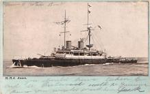 mil051688 - Military Battleship Postcard, Old Vintage Antique Military Ship Post Card