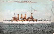 mil051694 - Military Battleship Postcard, Old Vintage Antique Military Ship Post Card