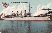 mil051697 - Military Battleship Postcard, Old Vintage Antique Military Ship Post Card