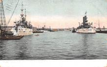 mil051706 - Military Battleship Postcard, Old Vintage Antique Military Ship Post Card