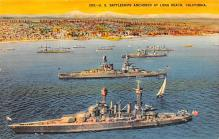 mil051710 - Military Battleship Postcard, Old Vintage Antique Military Ship Post Card