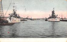 mil051711 - Military Battleship Postcard, Old Vintage Antique Military Ship Post Card