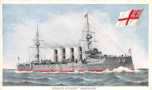 mil051720 - Military Battleship Postcard, Old Vintage Antique Military Ship Post Card