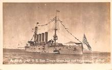 mil051725 - Military Battleship Postcard, Old Vintage Antique Military Ship Post Card