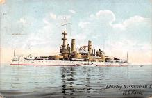 mil051738 - Military Battleship Postcard, Old Vintage Antique Military Ship Post Card