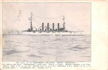mil051740 - Military Battleship Postcard, Old Vintage Antique Military Ship Post Card
