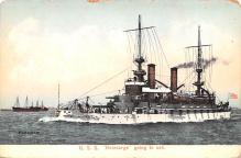 mil051743 - Military Battleship Postcard, Old Vintage Antique Military Ship Post Card