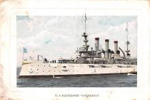 mil051745 - Military Battleship Postcard, Old Vintage Antique Military Ship Post Card