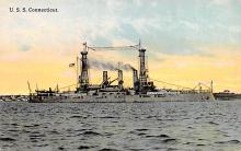mil051747 - Military Battleship Postcard, Old Vintage Antique Military Ship Post Card