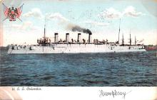 mil051753 - Military Battleship Postcard, Old Vintage Antique Military Ship Post Card