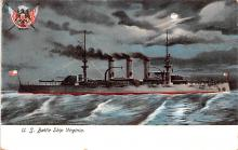 mil051755 - Military Battleship Postcard, Old Vintage Antique Military Ship Post Card