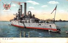 mil051770 - Military Battleship Postcard, Old Vintage Antique Military Ship Post Card
