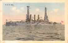 mil051772 - Military Battleship Postcard, Old Vintage Antique Military Ship Post Card