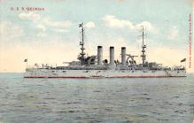mil051774 - Military Battleship Postcard, Old Vintage Antique Military Ship Post Card