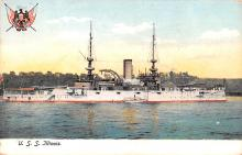 mil051786 - Military Battleship Postcard, Old Vintage Antique Military Ship Post Card