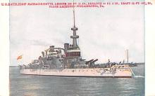 mil051787 - Military Battleship Postcard, Old Vintage Antique Military Ship Post Card