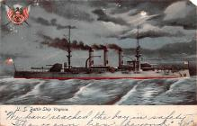 mil051788 - Military Battleship Postcard, Old Vintage Antique Military Ship Post Card