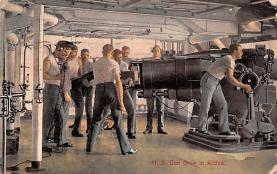 mil051795 - Military Battleship Postcard, Old Vintage Antique Military Ship Post Card