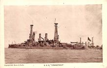 mil051798 - Military Battleship Postcard, Old Vintage Antique Military Ship Post Card