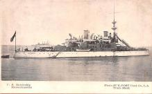 mil051808 - Military Battleship Postcard, Old Vintage Antique Military Ship Post Card