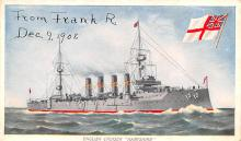 mil051824 - Military Battleship Postcard, Old Vintage Antique Military Ship Post Card