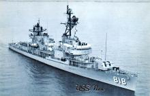 mil051825 - Military Battleship Postcard, Old Vintage Antique Military Ship Post Card
