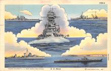 mil051830 - Military Battleship Postcard, Old Vintage Antique Military Ship Post Card