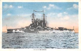 mil051841 - Military Battleship Postcard, Old Vintage Antique Military Ship Post Card