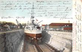mil051843 - Military Battleship Postcard, Old Vintage Antique Military Ship Post Card