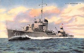 mil051857 - Military Battleship Postcard, Old Vintage Antique Military Ship Post Card