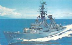 mil051862 - Military Battleship Postcard, Old Vintage Antique Military Ship Post Card