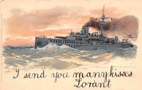 mil051864 - Military Battleship Postcard, Old Vintage Antique Military Ship Post Card