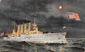 mil051867 - Military Battleship Postcard, Old Vintage Antique Military Ship Post Card