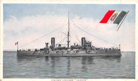 mil051871 - Military Battleship Postcard, Old Vintage Antique Military Ship Post Card