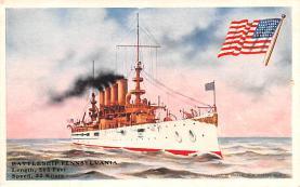 mil051877 - Military Battleship Postcard, Old Vintage Antique Military Ship Post Card