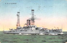 mil051881 - Military Battleship Postcard, Old Vintage Antique Military Ship Post Card