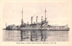 mil051889 - Military Battleship Postcard, Old Vintage Antique Military Ship Post Card