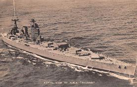 mil051896 - Military Battleship Postcard, Old Vintage Antique Military Ship Post Card