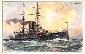 mil051897 - Military Battleship Postcard, Old Vintage Antique Military Ship Post Card