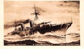 mil051901 - Military Battleship Postcard, Old Vintage Antique Military Ship Post Card