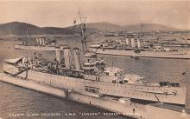 mil051903 - Military Battleship Postcard, Old Vintage Antique Military Ship Post Card
