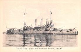 mil051907 - Military Battleship Postcard, Old Vintage Antique Military Ship Post Card