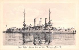mil051908 - Military Battleship Postcard, Old Vintage Antique Military Ship Post Card