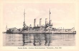 mil051911 - Military Battleship Postcard, Old Vintage Antique Military Ship Post Card