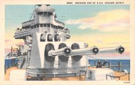 mil051913 - Military Battleship Postcard, Old Vintage Antique Military Ship Post Card