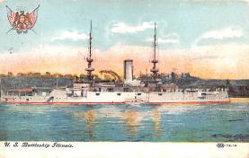 mil051914 - Military Battleship Postcard, Old Vintage Antique Military Ship Post Card