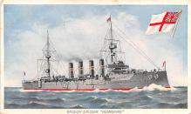 mil051918 - Military Battleship Postcard, Old Vintage Antique Military Ship Post Card